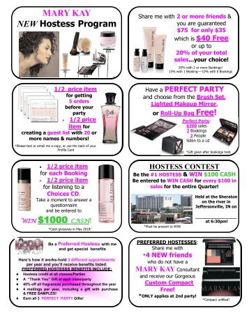 MARY KAY NEW Hostess Program WIN $1000 ... - Melissa A. Mays