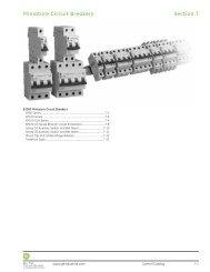 Miniature Circuit Breakers - GE Industrial Systems