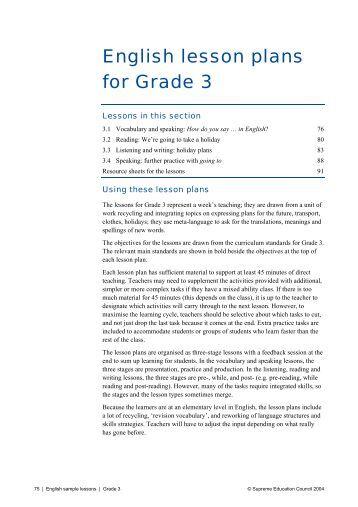 Lesson plan evs class 3 our