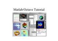 Matlab/Octave Tutorial
