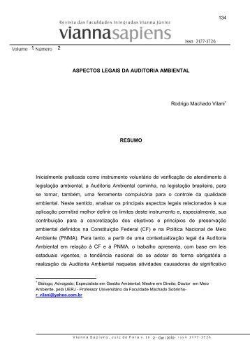 Artigo 7 Aspectos legais da Auditoria Ambiental ... - Instituto Vianna Jr