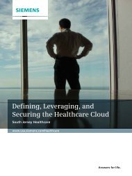 Defining, Leveraging, and Securing the Healthcare Cloud - Siemens