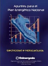 Apuntes para el Plan Energético Nacional - osinergmin