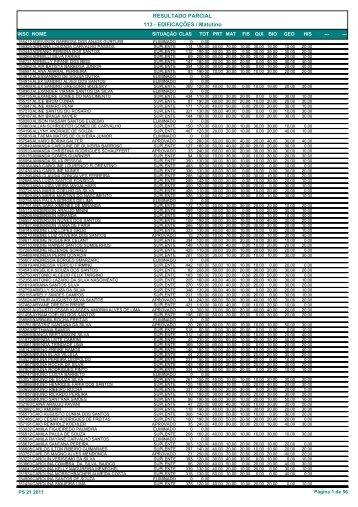 Seleção - REF Alfabético - Ifes