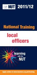 local officers - National Union of Teachers