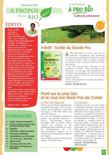 newsletter A pro bio Novembre 2011.ai