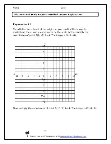 math worksheet : dilation and scale factor worksheet  worksheets for education : Dilations Math Worksheet