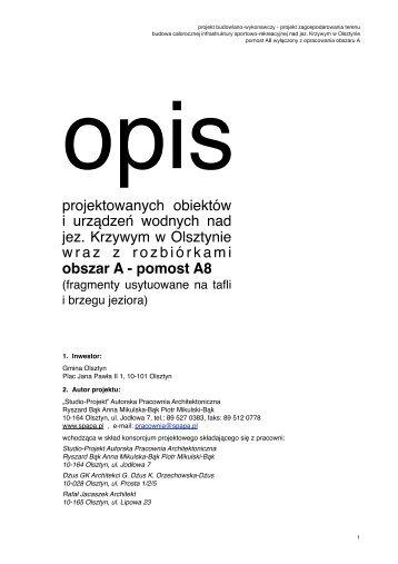 Krzywe A - pomosty A8-opis techniczny popr.-PW - Olsztyn