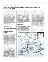 The Great Sumatra Earthquake and Indian Ocean Tsunami of ...