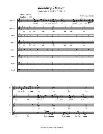 Download evaluation score - Schola Cantorum on Hudson