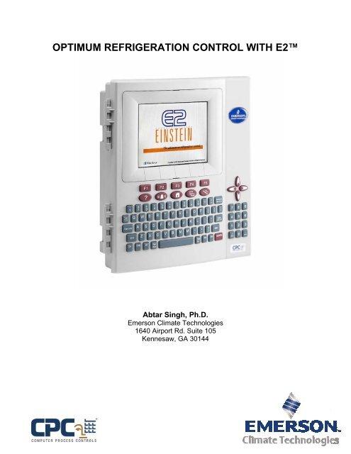 Optimum Refrigeration Control with E2 - Emerson Climate