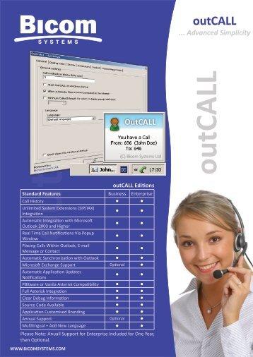 outCALL - Bicom Systems
