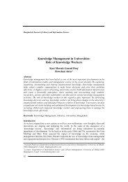 Knowledge Management in Universities - Bangladesh Online ...