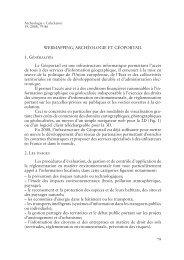 WEBMAPPING, ARCHÉOLOGIE ET GÉOPORTAIL 1. Généralités Le ...