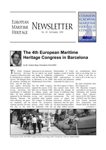 No. 10. September 2001 - European Maritime Heritage EMH