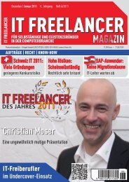 Christian Moser - IT Freelancer Magazin