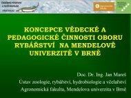 doc. Dr. Ing. Jan Mareš - Mendelova zemědělská a lesnická ...