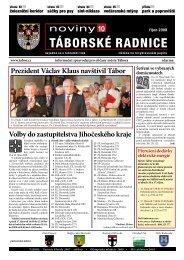 Noviny Táborské Radnice 2008 - Říjen