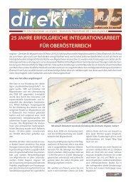 25 jahre erfolgreiche integrationsarbeit für oberösterreich - Migrare