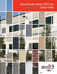 TAFS over Koreteck System Brochure - Continuous Insulation - Dryvit