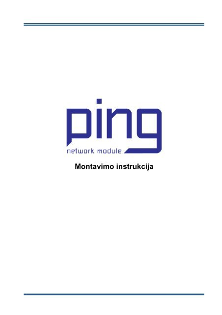 Ping module installation manual_LT - Komfovent