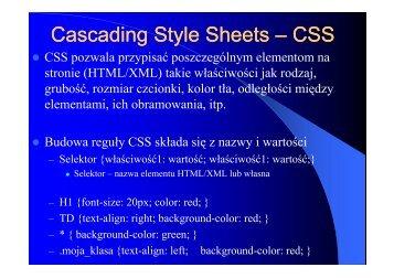 Wstęp do CSS