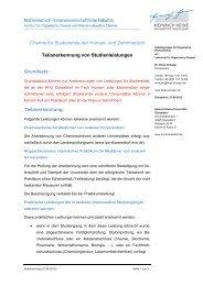 Anerkennung - Heinrich-Heine-Universität Düsseldorf