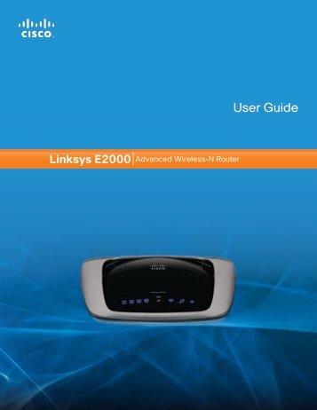 Linksys E2000 User Guide - Etilize