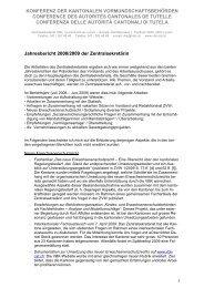 konferenz der kantonalen vormundschaftsbehörden ... - Kokes