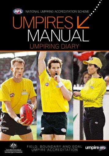 UmpireS maNUal - AFL Community