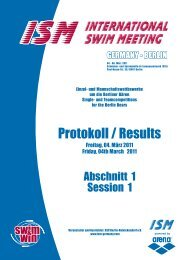 Wettkampf-Nr. 1 - ISM - International Swim Meeting - Berlin/ Germany