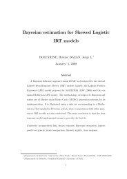 Bayesian estimation for Skewed Logistic IRT models