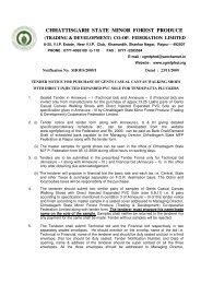 TENDER FORM - Chhattisgarh Minor Forest Produce Co-Operative ...