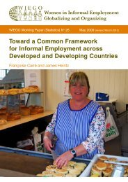 Toward a Common Framework for Informal ... - Inclusive Cities