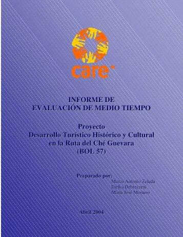 INFORME DE EVALUACIÓN DE MEDIO TIEMPO Proyecto ...