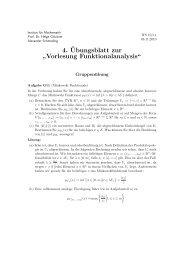 Vorlesung Funktionalanalysis - Institut für Mathematik