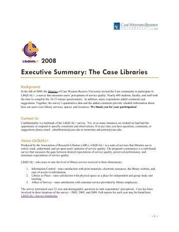 Executive Summary - Kelvin Smith Library - Case Western Reserve ...
