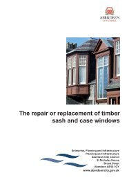 The repair or replacement of timber sash and case windows