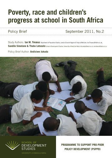 Poverty, race and children's progress at school in South africa