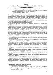 Raport privind realizarea programului de activitate pe 9 ... - amsem