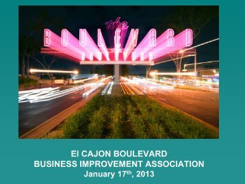 The Boulevard - El Cajon Boulevard Business Improvement District