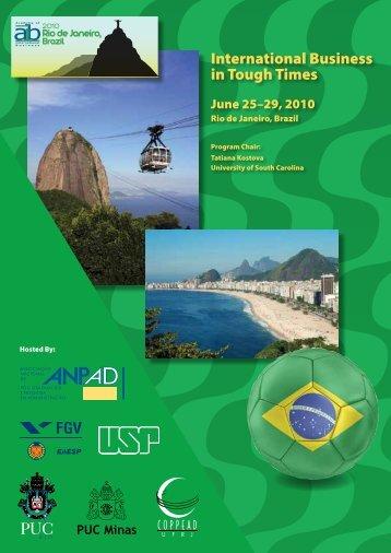 AIB 2010 Conference Program - Academy of International Business