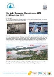 Six Metre European Championship 2012 20-27th of July 2012