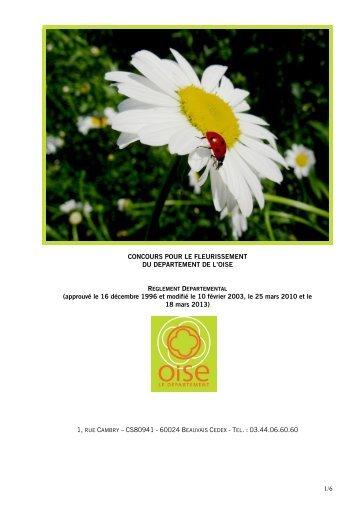 1/6 CONCOURS POUR LE FLEURISSEMENT DU DEPARTEMENT ...
