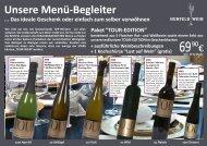 Unsere Menü-Begleiter - Hunfeld Wein GmbH