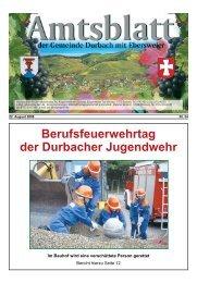 Berufsfeuerwehrtag der Durbacher Jugendwehr