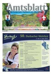 50. Durbacher Weinfest