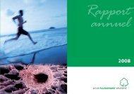 Rapport annuel 2008 - Ligue pulmonaire