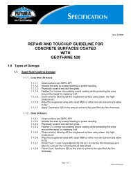 repair and touchup guideline for concrete surfaces coated with ...
