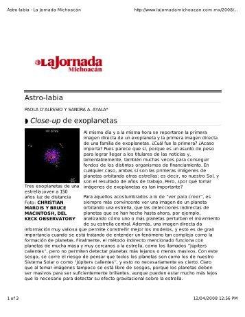 Tres exoplanetas de una estrella joven a 150 años ... - CRyA, UNAM